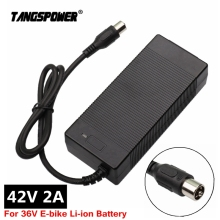 42V 2A charger electric bike lithium battery charger for 36V E-bike li-ion battery pack electric scooter charger RCA Connector eu us no tax sanyo cell 36v 18ah bottle battery pack 36v 17 5ah electric bike lithium battery 500w e bike battery charger