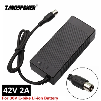 цена на 42V 2A charger electric bike lithium battery charger for 36V E-bike li-ion battery pack electric scooter charger RCA Connector