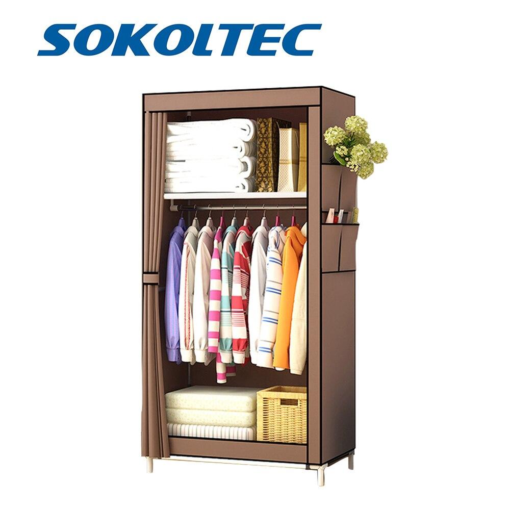 Fast Dispatch Sokoltec Wardrobe DIY Non-woven Fold Portable Storage Cabinet Multifunction Dustproof Moistureproof Closet