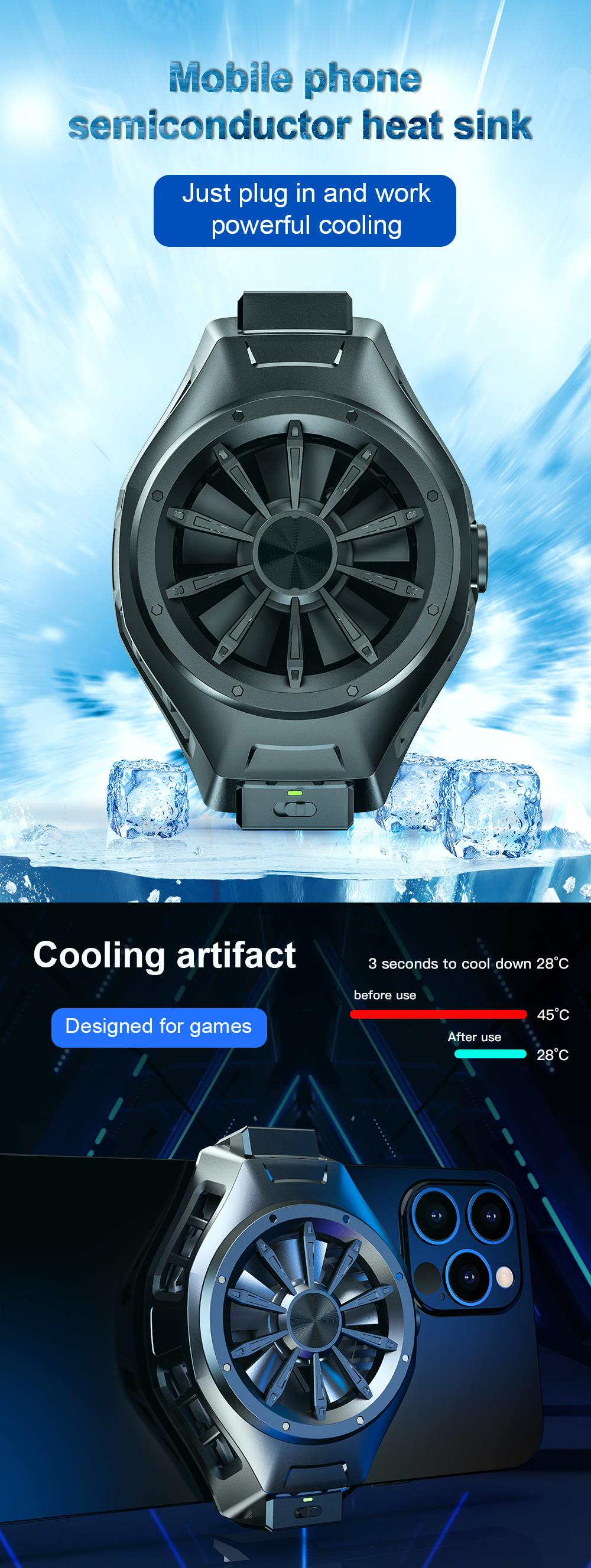 Semiconductor Cooling Fan for Smartphone