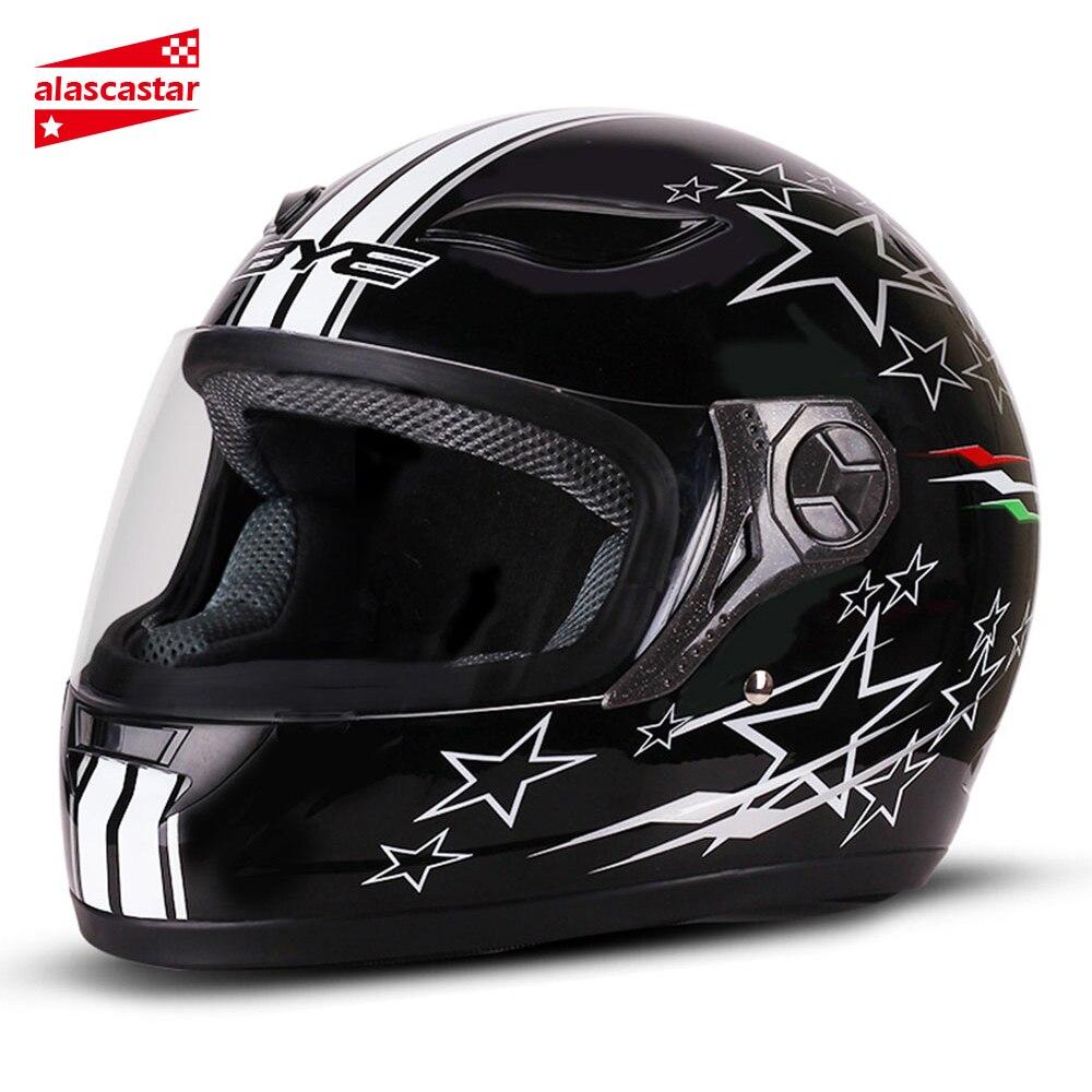 Мотоциклетный шлем BYE для мужчин, самокат, Круизер, шлем с полным лицом, мотоциклетный шлем для мужчин и женщин, гоночный уличный шлем