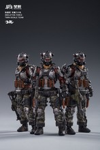 JOYTOY JT0173 Skeleton Forces Double Sickle SQUAD 1/18 Action Figure Set 3