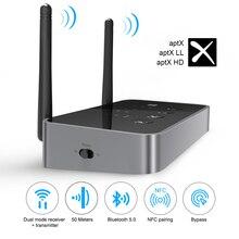EKSA ET04 Bluetooth Audio odbiornik nadajnik 3 w 1 Adapter bezprzewodowy optyczne/3.5mm AUX/SPDIF do telewizora słuchawki