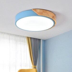 Image 3 - 5 センチメートル超薄型ledシーリングライトリビングルームの照明用調光可能な現代天井ランプ北欧ベッドルームキッズルームplafonnier led