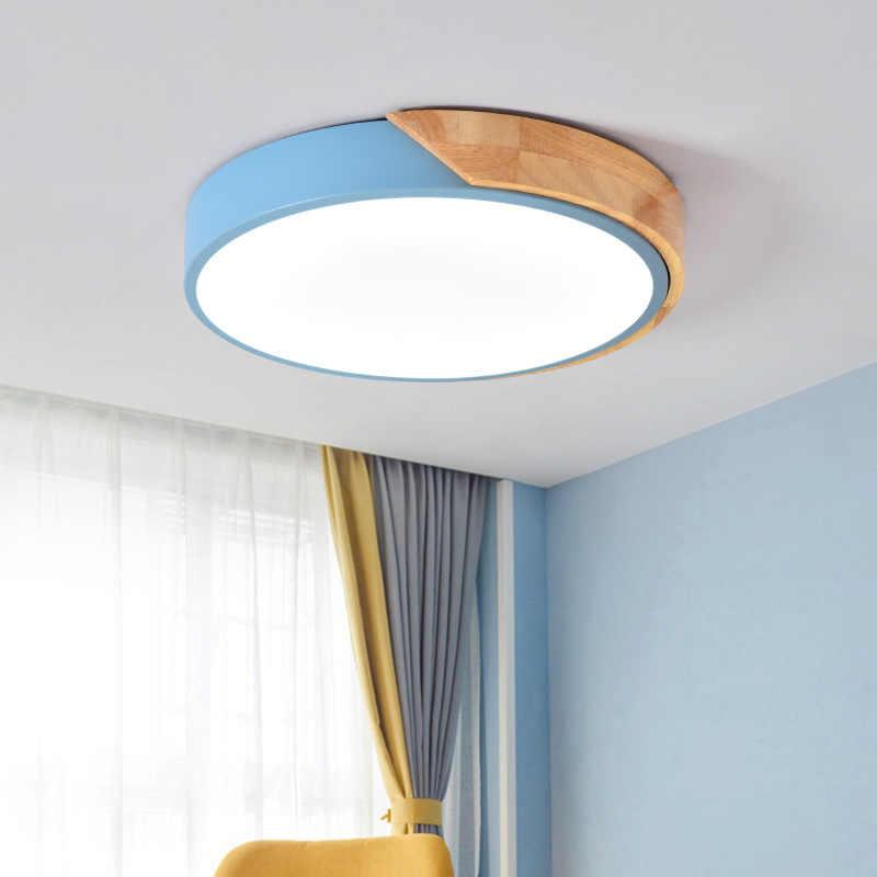 Lámparas Led de techo Ultra finas de 5cm para salón, lámparas de habitación, lámpara de techo moderna regulable para dormitorio nórdico, habitación de niños, Plafonnier Led