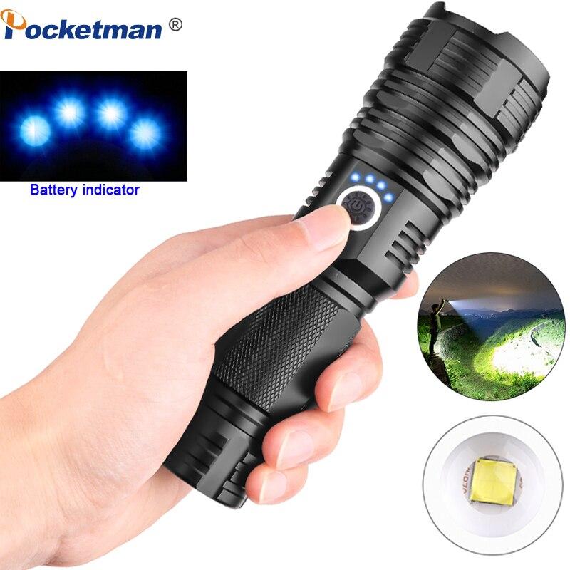 Mächtigsten XHP70.2 LED Taschenlampe XHP50 Wiederaufladbare USB Zoomable Fackel XHP70 18650 26650 Jagd Lampe für Camping