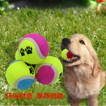 Explosive models with footprints dog tennis toy ball pet bite sports training supplies