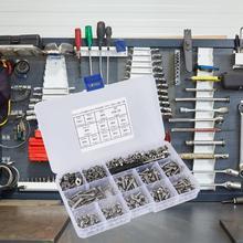 662 Pcs/set DIY Combination Set  Pan Machine Screw+Flat/Elastic Washer+Nut plastic screw