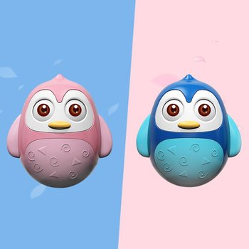 Baby Penguin Tumbler Rattle Toy Catching Ball Musical Educational Toys For Infant Boys Girls