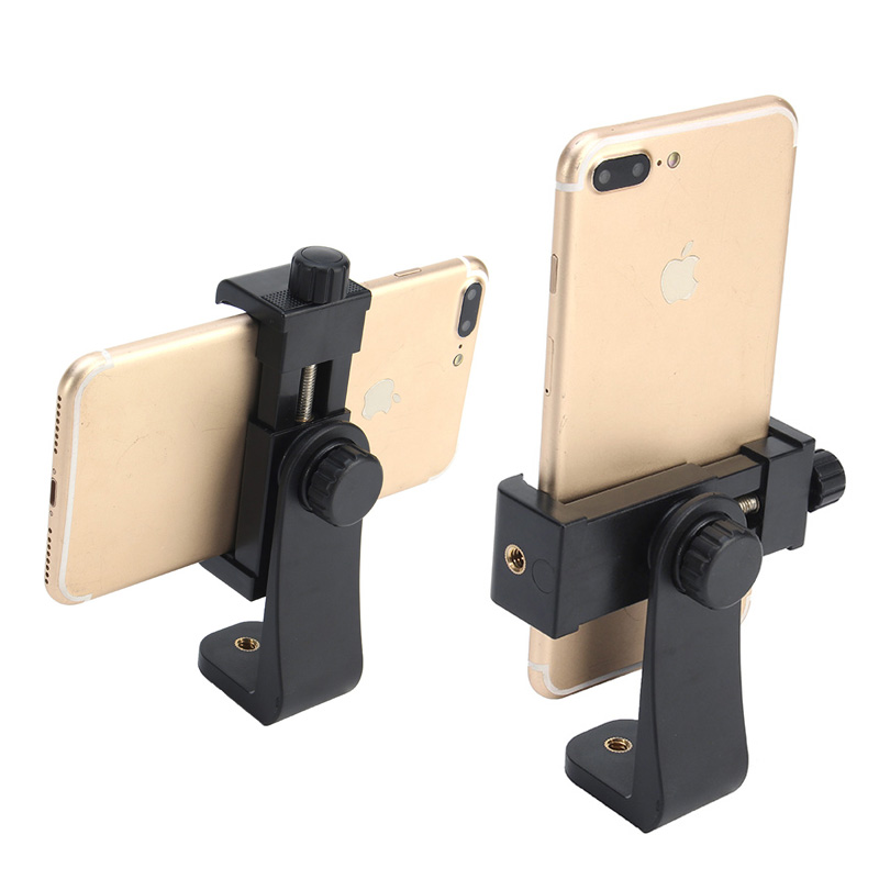 Tripod Mount/Cell Phone Clipper Vertical Bracket Smartphone Clip Holder 360 Adapter For IPhone For Samsung Mobile Cell Phone