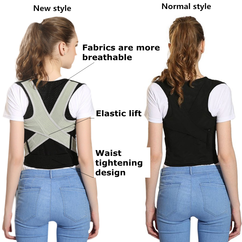 Tlinna Posture Corrector Belt with Adjustable Dual Strap Design to Get Perfect and Confident Body Posture Suitable to Wear Under or Over Clothing 2