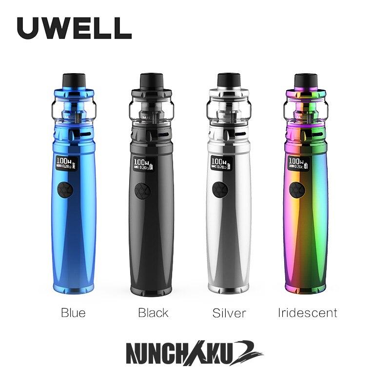 UWELL Nunchaku 2 Kit 5-100 W  5ML Nunchaku 2 Tank Supports 18650/20700/21700 Batteries E-cigarette Vape Kit