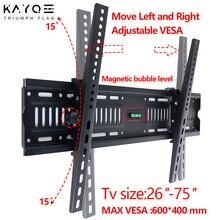KAYQEE Universal Tilting and Fixing TV Stand LCD LED Ultra HD Plasma TV Wall Mount TV Bracket 26