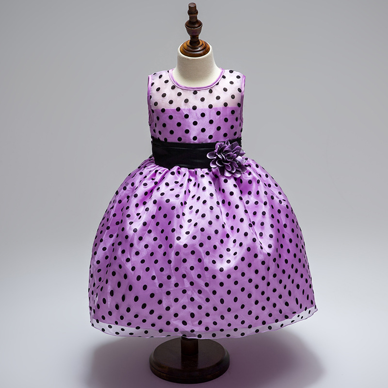 Origional Top Grade Polka Dot Flower Girls Princess Dress Dotted Puffy Children Performance Flower Boys/Flower Girls Dress