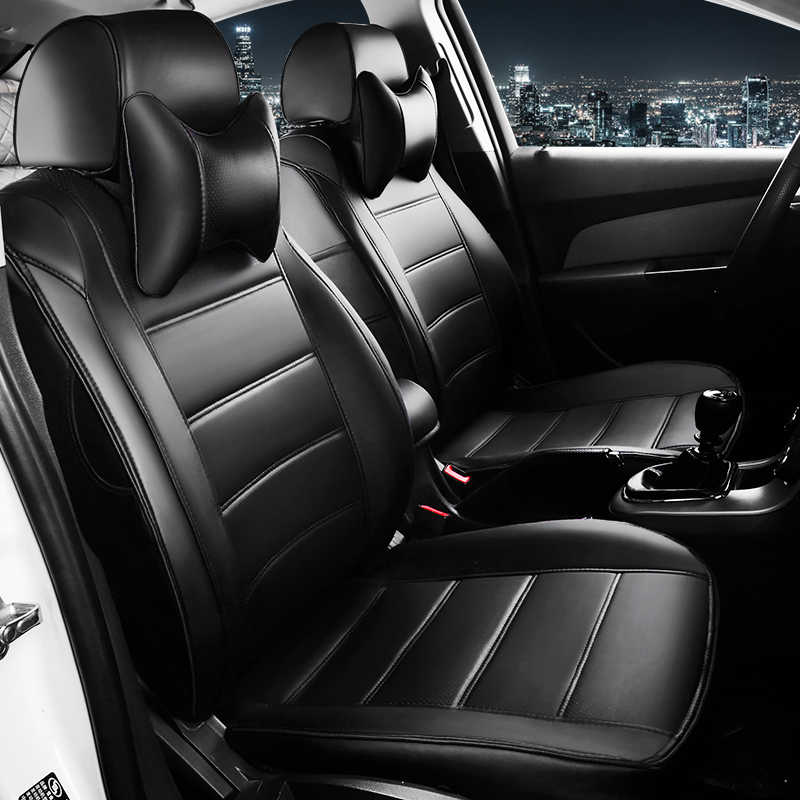 Hlfntf Kulit Kustom Penutup Kursi Mobil untuk Mazda 6 3 CX-5 CX7 626 M3 M6 Axela Familia Mobil Aksesoris Mobil -Styling Bantal Kursi