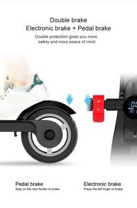 Image 5 - X6 2019 più alla moda per adulti elettrico citycoco scooter kick elettrico pieghevole scooter per adulti