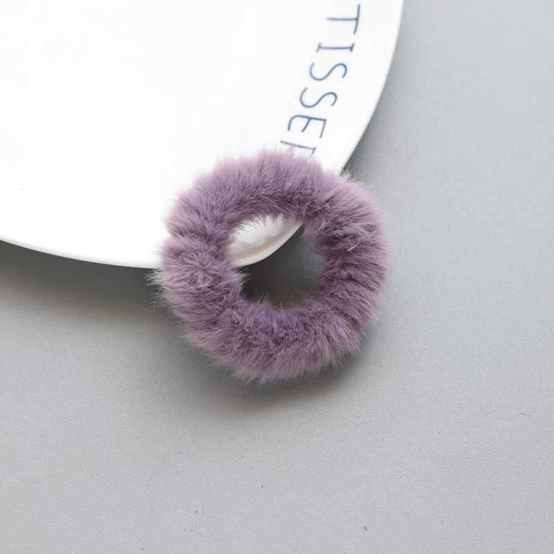 新着冬弾性ヘアゴムバンド髪ティアラ大人シンプルなソリッドカラーのソフト豪華なヘアバンド女性の髪アクセサリー