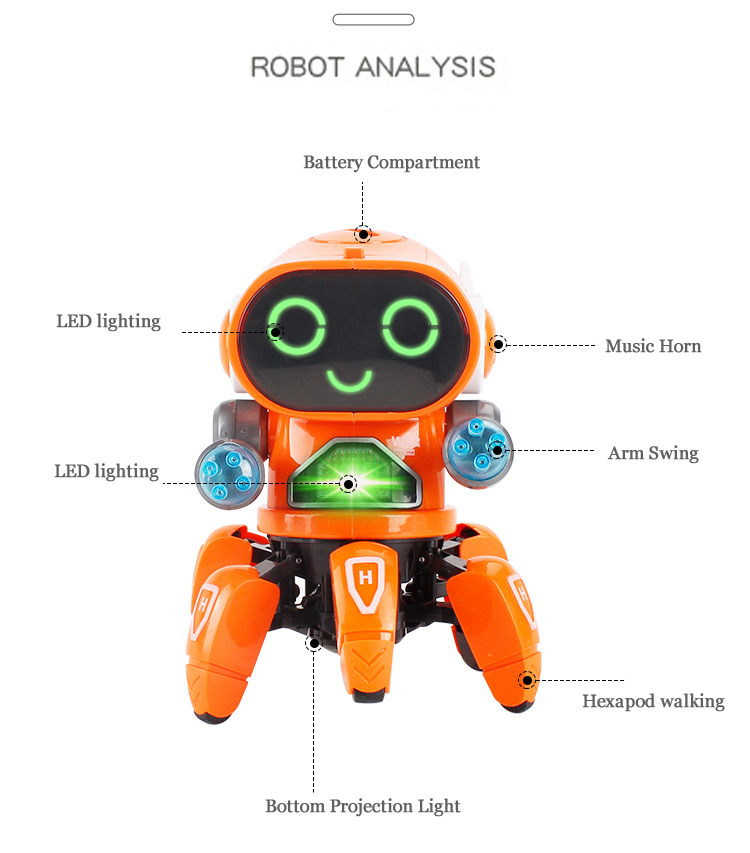 Mini RC Intelligent Robotic Toys Made With Plastic And Electronic Components Material 5