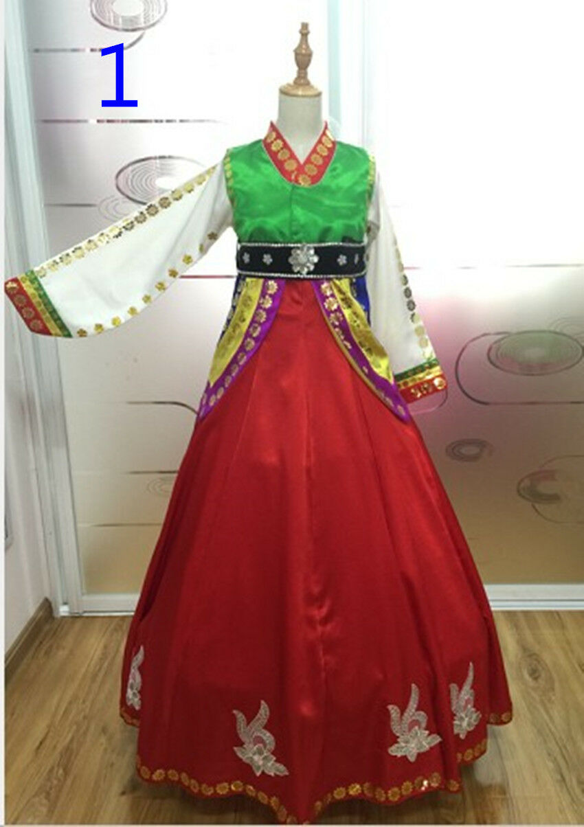 Korean Tradtional Dancing Hanbok Dress Korean National Stage Dress Woman