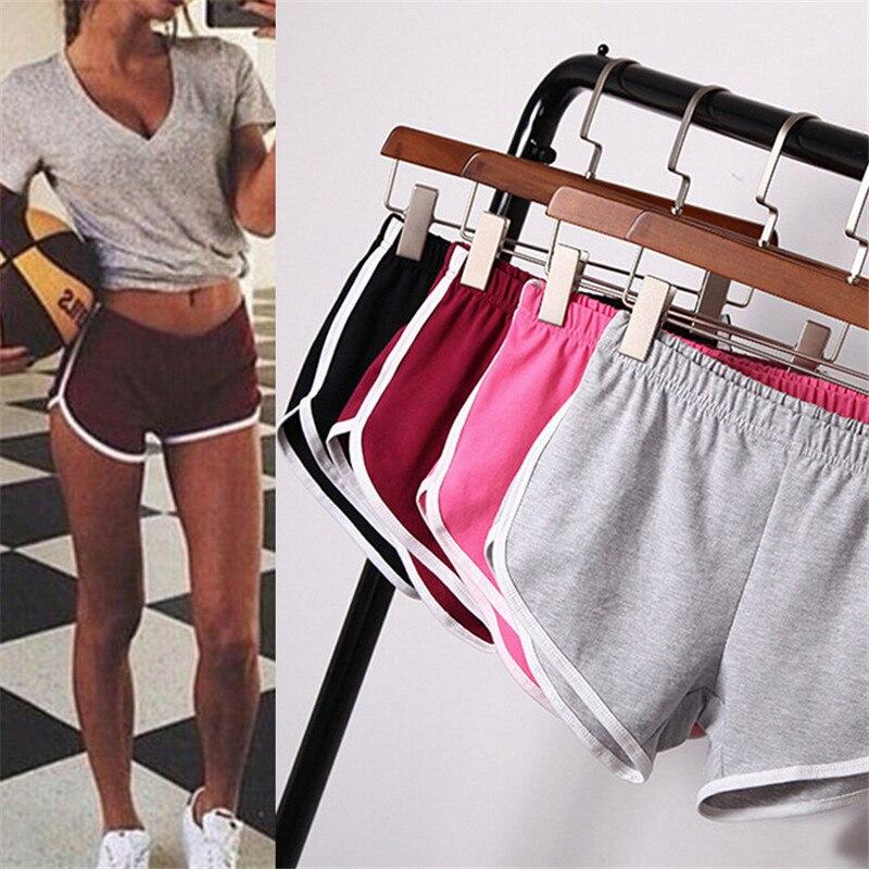 Summer Women Sports Shorts Short Pants Gym Workout Waistband Running Jogging Short Size S-XXL