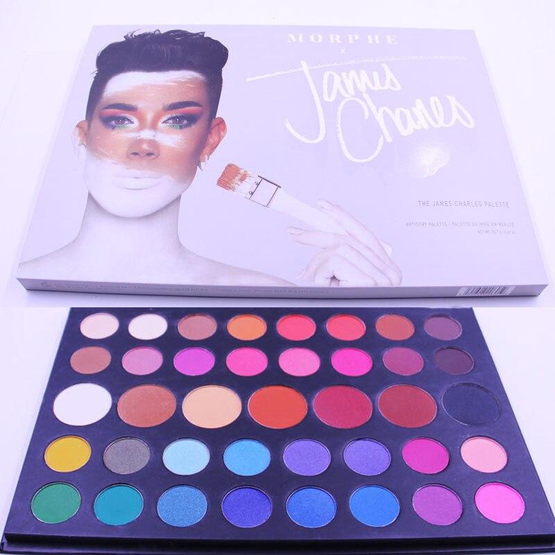 Morph X James Charles39 Color Eye Shadow Pearl Light Eyeshadows Pallete Makeup Pallete Naked Brown 39 Colors