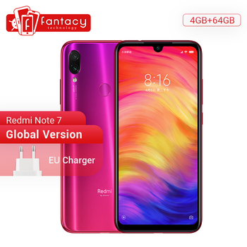 Global Version Xiaomi Redmi Note 7 4GB 64GB 48MP Cameras Snapdragon 660 Octa Core 6.3'' FHD+ Mobile Phone QC 4.0 4000mAh Battery