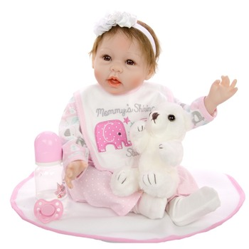 NPK Silicone Reborn Baby Dolls 22 Inch New Fashion 55cm Realistic Lovely adorable cheeks girl bebe reborn kids  toys