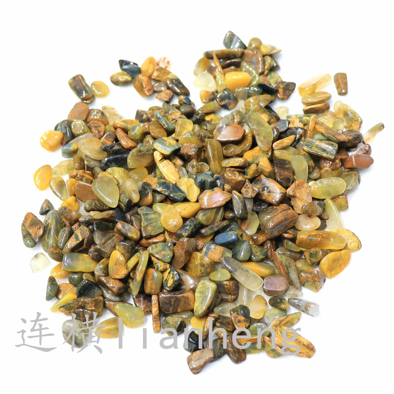 5-7mm en gros énergie jaune pierre pierre concassée pierre pour la fabrication de bijoux de décoration à la maison