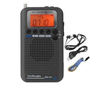 HanRongDa HRD-737 Portable Radio Aircraft Band Receiver FM/AM/SW/ CB/Air/VHF Radio World Band with LCD Display Alarm Clock(China)