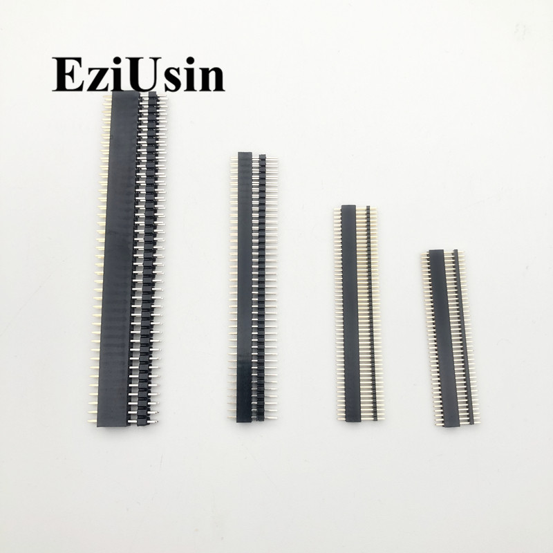 2 Pairs 40/50 Pin 2x40/50 Double Row Male Female 2.54/2.0/1.27 Mm Breakable Pin Header PCB JST Connector Strip For Arduino DIY
