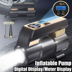 Cyfrowa pompka do opon DC 12V samochód przenośne automatyczne elektryczne pompy powietrza pompka do opon samochodowych cyfrowy wyświetlacz do motocykli samochodowych rowery