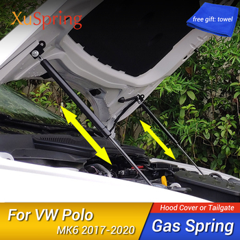 цена на For VW Polo 2017 2018 2019 2020 AW MK6 Refit Bonnet Hood Gas Spring Shock Lift Strut Bars Support Hydraulic Rod Car-styling