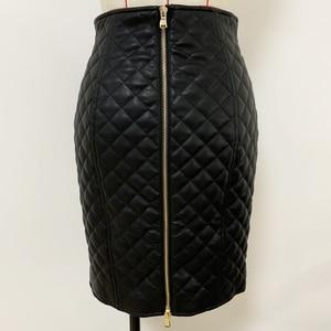 Image 4 - Высококачественная Дизайнерская Женская юбка из синтетической кожи 2020