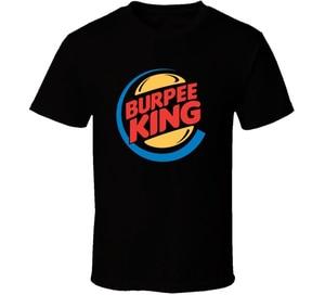 Футболка Burpee King Crossfit, забавная футболка для тренировок в тренажерном зале, футболка в свободном стиле