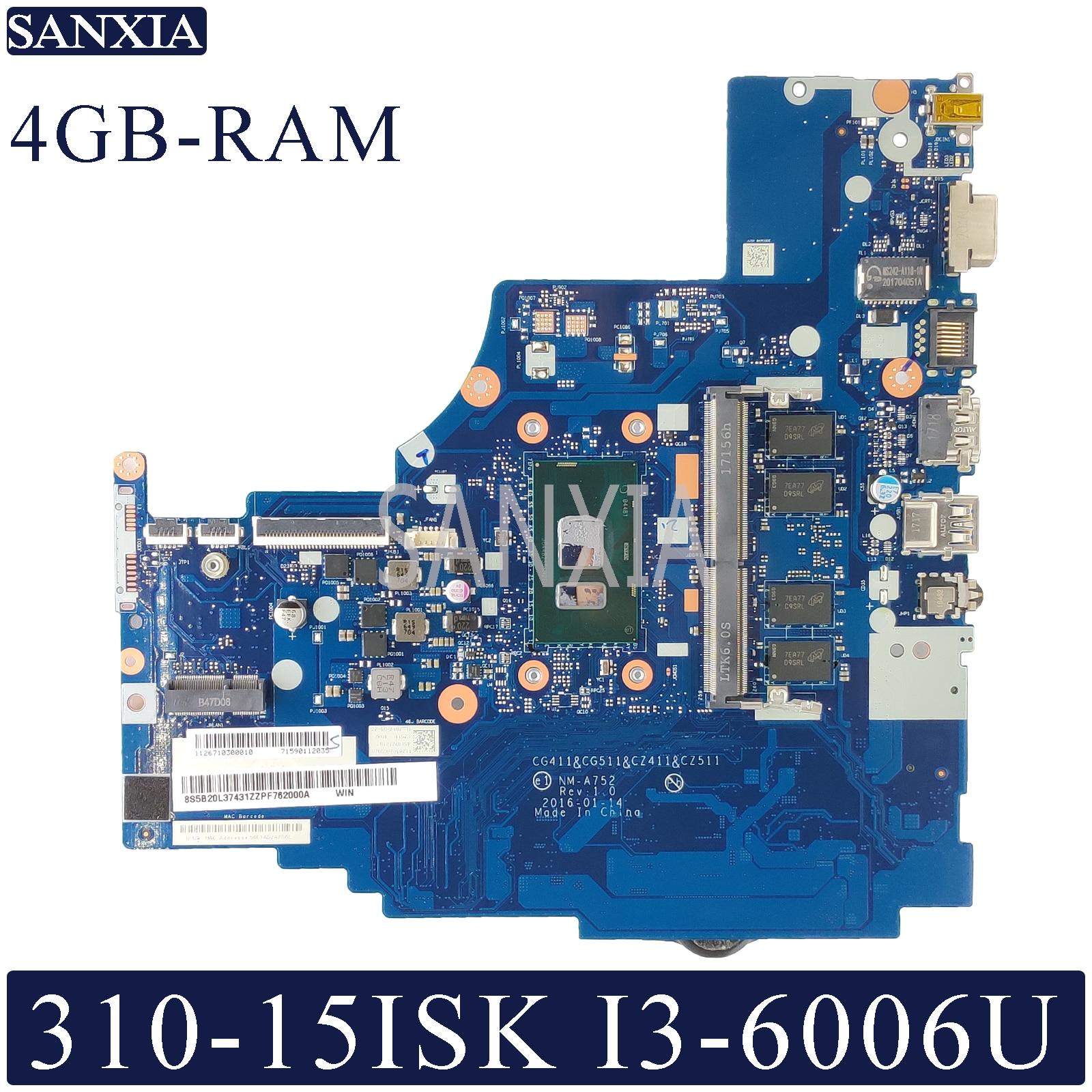 KEFU NM A752 carte mère d'ordinateur portable pour Lenovo 310 15ISK 510 15ISK carte mère d'origine 4GB RAM I3 6006U/6100U-in Cartes mères from Ordinateur et bureautique on AliExpress - 11.11_Double 11_Singles' Day 1