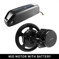 Sale 48V 750W Bafang BBS02B Mid Drive Motor Electric Bike Conversion Kit with Lock 12Ah/17.5Ah Bicycle Battery built in Samsung Cell 1