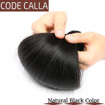 Code Calla Malaysian Straight Hair Bundles Weaving Salon 100% Remy Human Hair Weft Extension Natural Black Color Free Shipment