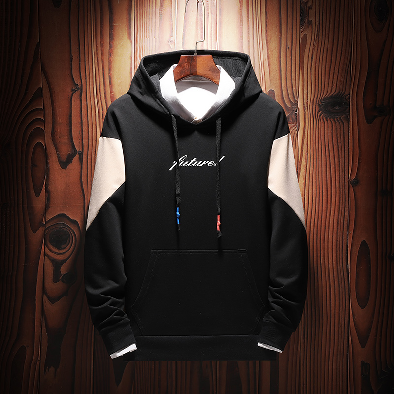 Men Sweatshirts Street Fashion 2019 New Spring And Autumn Patchwork Male Hoodies Teenager Boy Coat Letter Korean Style H16 5