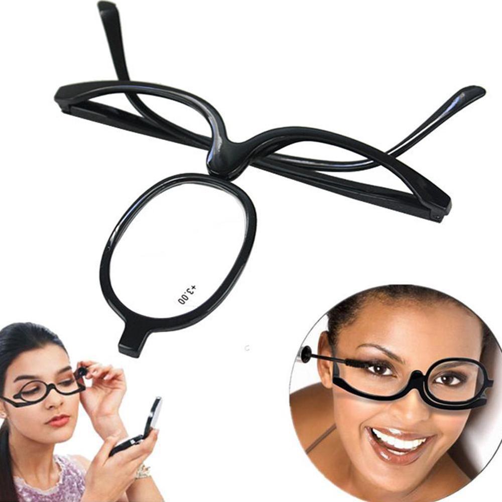 Lupa girando maquiagem óculos de leitura dobrável óculos cosméticos geral + 1.0 1.5 2.0 2.5 3.0 3.5 4.0|Óculos de leitura|   -