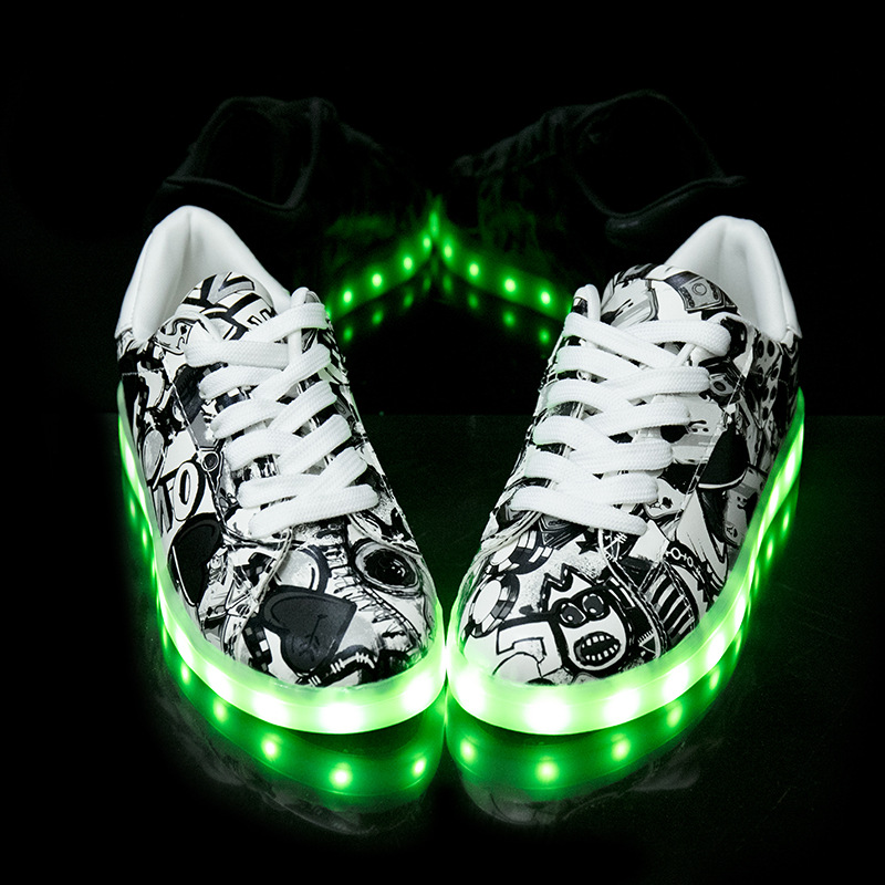 Image 4 - Size 27 40 Fashion Good Children LED Glowing Luminous Sneakers With Light Up Shoes for Kids Boys Girls Baskets LED Slippers 36-in Sneakers from Mother & Kids