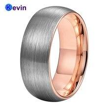Розовое золото обручальное кольцо вольфрамовое Мужская Женская
