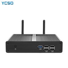 YCSD Mini PC Intel Celeron N2930 Quad Cores Windows 10 Gigabit Ethernet 300Mbps WiFi Gigabit Ethernet HDMI VGA 5xUSB Fanless