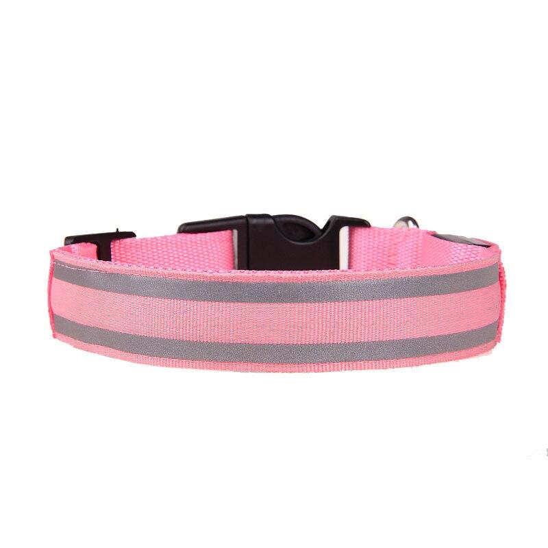 Outdoor Pet Supplies Pet Collar Anticollision No Electricity Safe Dog Traction Rope LED Luminous Collar Dog