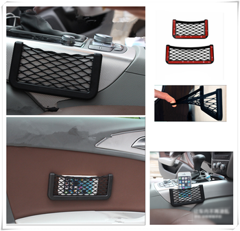 Universal Car Accessories Seat Cell Phone Debris Storage Mesh Bag for BMW all series F-series E46 E90 F09 1 2 3 4 5 6 7 X E image