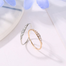 New Cubic Zirconia Crystal Infinite Rings For Women Fashion Design Statement  Gold Silver Color Ring Wedding Jewelry 2020 fashion design cubic zirconia rings for women rose gold silver color round crystal ring female anel party statement jewelry