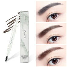 Marbled Double-End Eyebrow Pencil Waterproof Smudge-Proof Lasting Enhancer Natural Makeup