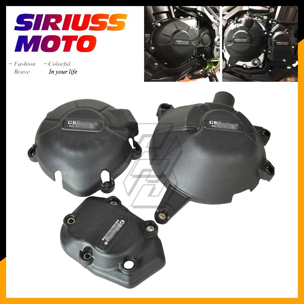 Proteção do motor da motocicleta bomba de água capa kit para gb racing para kawasaki ninja z900 2017 2018 2019