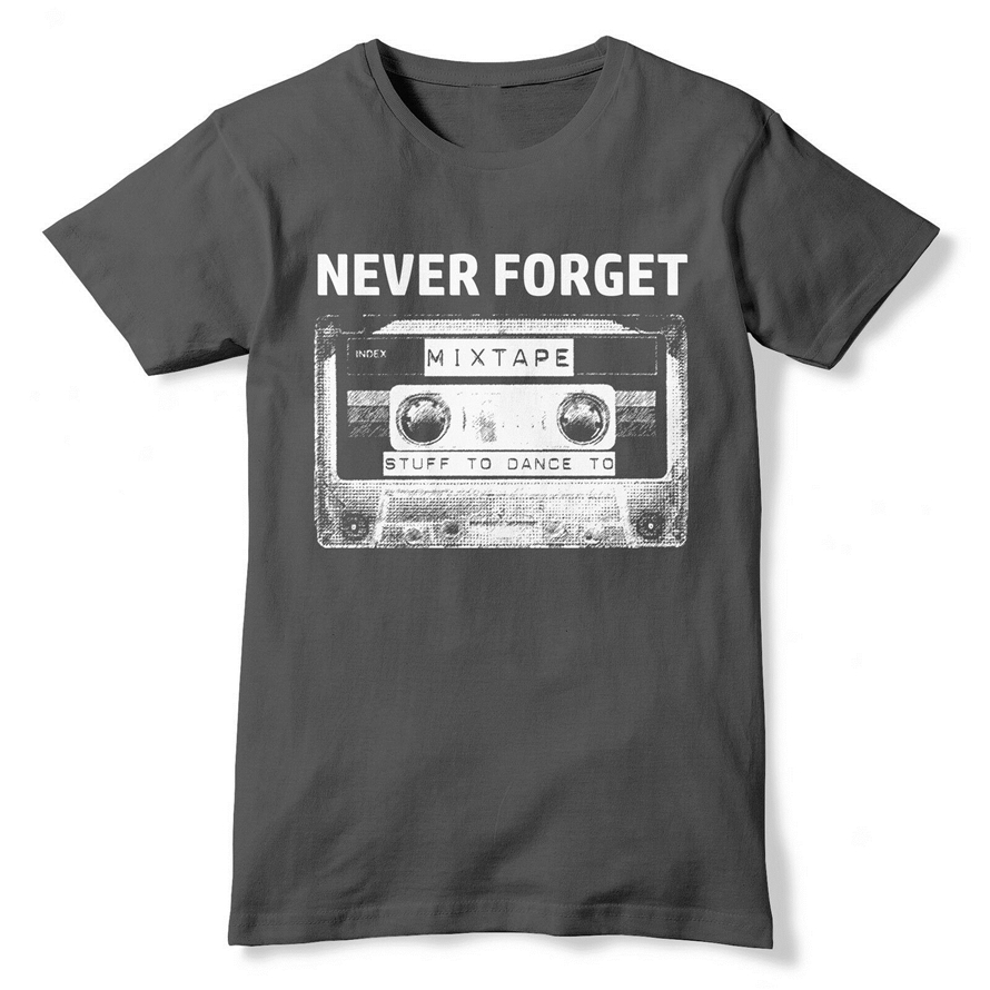 Never Forget Cassette Tape T Shirt Old School 80S 90S Music Top Disco Dance 357 Adults Casual Tee Shirt image