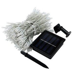 Image 5 - Thrisdar 3x3M 300 LED zasilana energią słoneczną zasłona girlanda żarówkowa ogrodowa Xmas słoneczna gwiaździsta gwiazda wróżka girlanda światło