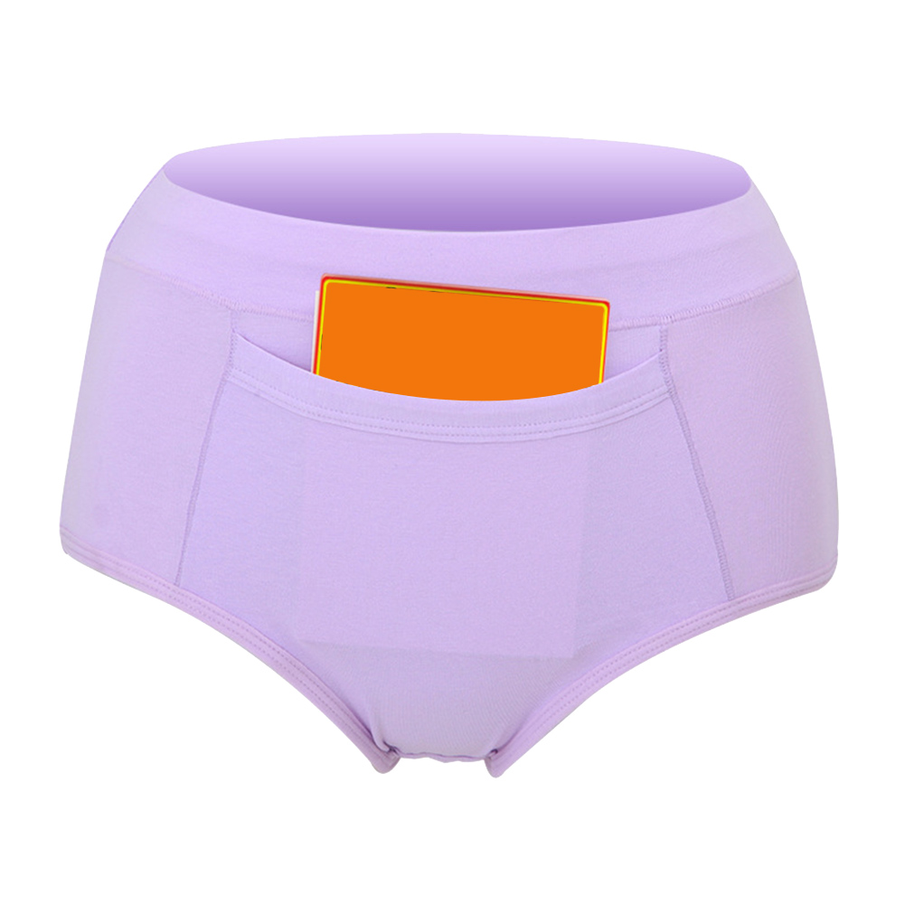 Women Menstrual Period Leakproof Panties Briefs Lingerie Sanitary Trousers With Pockets H9